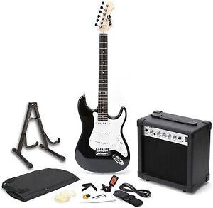 E-chitarra rockjam Superkit AMPLIFICATORE CHITARRA STRUMENTO MUSICALE CORDE Set audio