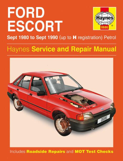 Haynes Owners Workshop Manual 0686 Ford Escort Mk3 Mk4 For Sale Online Ebay