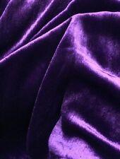 "Silk Velvet PURPLE 45"" Wide drapery bedding pillow Fabric dress garments BTY"