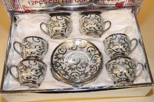 Turkisch Moccaset  Kaffee-Set i.Geschenkbox MOCCA-ESPRESSO 12-tlg.Mocca Set
