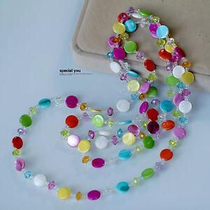 Collar-Largo-Cadena-Multicolor-Rojo-Blanco-Azul-Verde-Amarillo-Rosa-Bonito-MYL2