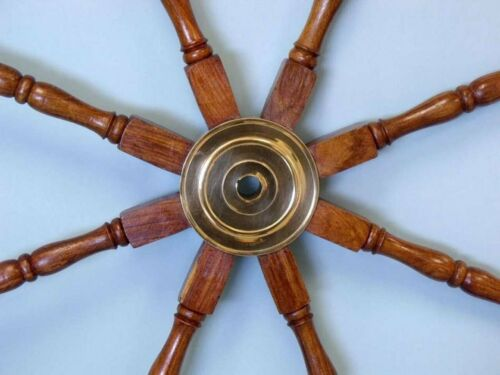 "Collectible Ship Wheel 36/"" Wooden Steering Nautical Marine Handmade Vintage Gift"