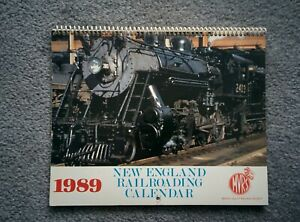 New England Railroading CALENDAR 1989 can be used in 2023 Great Photos for Hobby