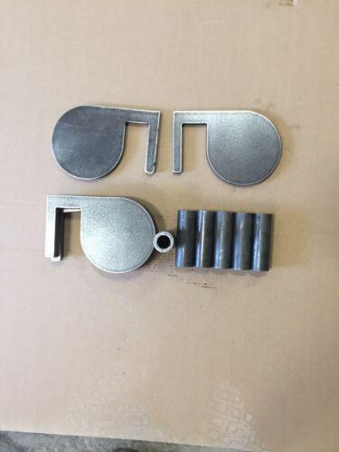 """AR500 Duel Arbre À faire soi-même Kit X 1//2/"""" Heavy Duty Steel Target Gong Paddle environ 15.24 cm 6 6 in"""