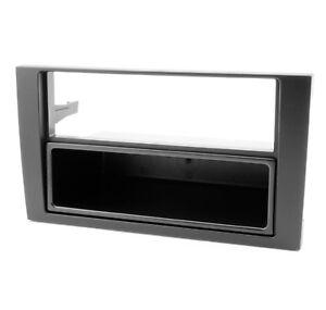 Radioblende-fuer-AUDI-A4-B6-8E-Autoradio-Blende-Rahmen-mit-Fach-schwarz