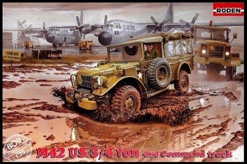 Roden 1 35 M42 US 3 4-ton 4x4 4x4 4x4 US Couomodo Camion modellolo Plastica Kit 809 Rod809 8e6e84