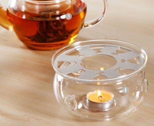 "DecentGadget With /""DG/"" Logo Tea Glass Teapot Warmer"