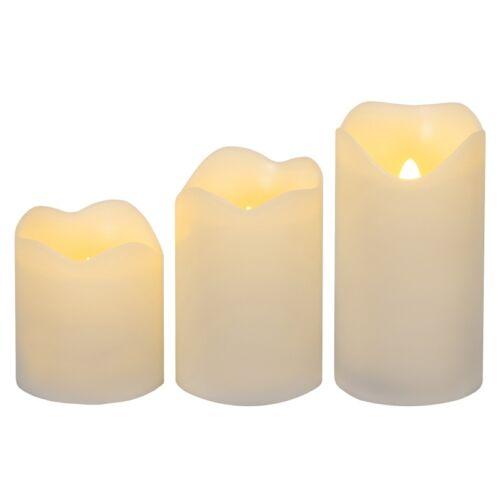 3 Pièces Ensemble Led Kunststoff-Kerzen Vacillant Bougie Lampes de Thé Petit