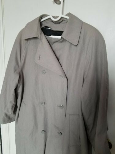 Doublé Fog Trench Coat 12p Beige Double Breasted London Taille B4RqwX