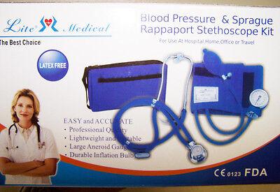 Latex Free NURSING EMT Blood Pressure Sprague Rappaport Stethoscope Kit 10 Color