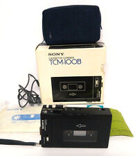 Vintage Sony Cassette Corder Original Walkman TCM-100B Tape Recorder Repair 1978