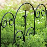 (12) Ea Panacea 89382 16 H X 18.5 W Black Finial Design Garden Border Fence