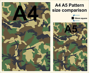 a4 sheet laminated camouflage stickers self adhesive vinyl green