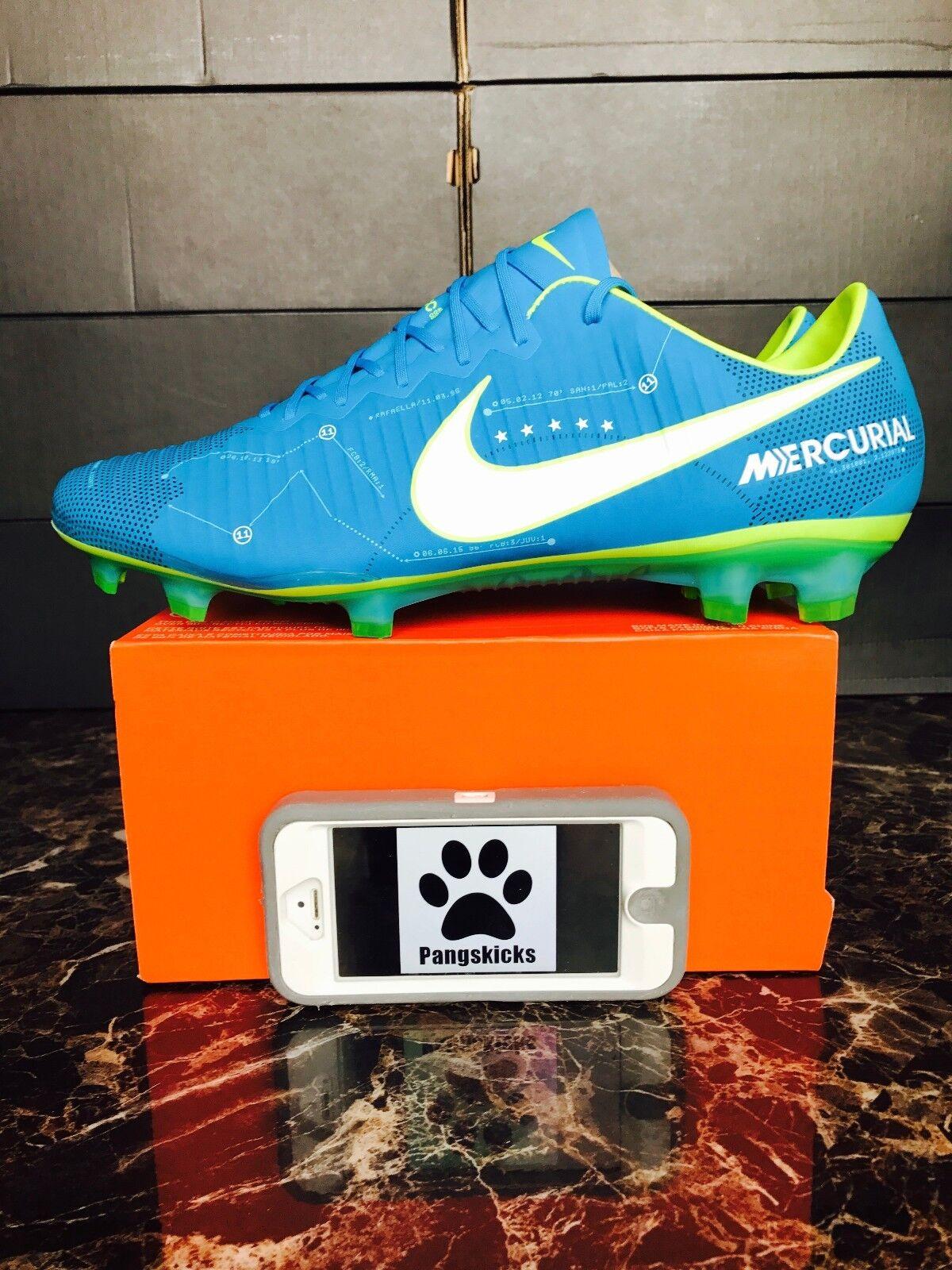 7711f62b29b0 Nike Mercurial Vapor XI Neymar FG 921547-400 Blue Orbit Soccer ...