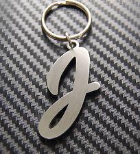 J Letter Alphabet Name Keyring Keychain Key Fob Bespoke Stainless Steel Gift