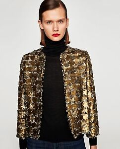 1e7aef10 Image is loading ZARA-NEW-SEQUINNED-TWEED-JACKET-7853-661