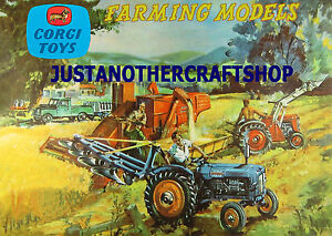 Corgi-GS-22-Farming-Gift-Set-A3-Size-Poster-Advert-Leaflet-Shop-Display-Sign