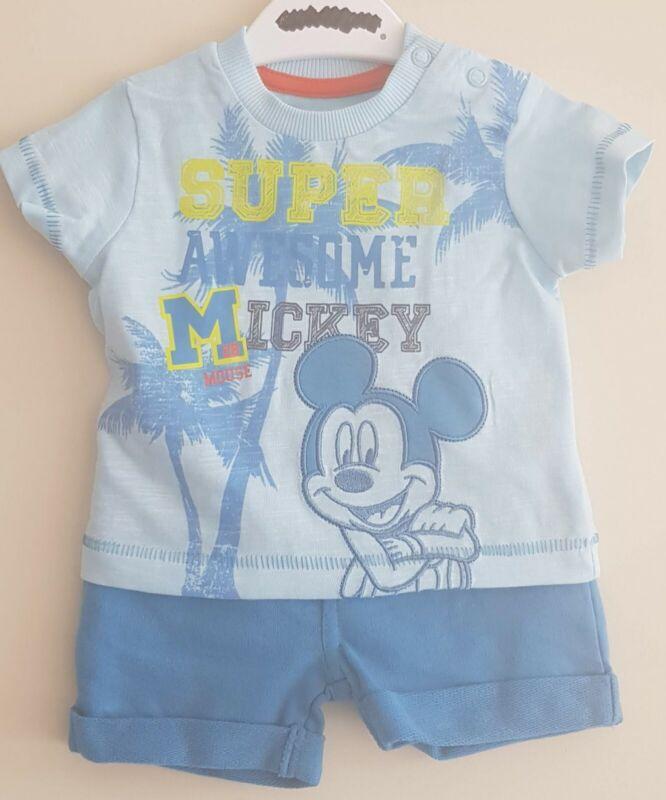 Conjuntos De Ropa De Nino De 0 A 24 Meses Productos Para Bebes Bebe Ninos Disney Mickey Mouse 2 Piezas De Este Conjunto Pantalones Cortos Y Camiseta