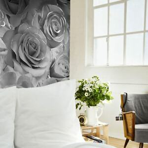 Madison-Rose-Paillette-Floral-Papier-Peint-Gris-Argent-Muriva-139520