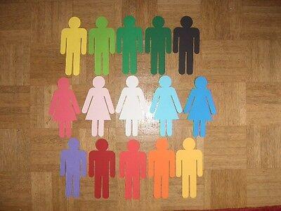 Aggressiv Moderationskarten Frau Und Mann 19 Cm 15 Farben FüR Schnellen Versand