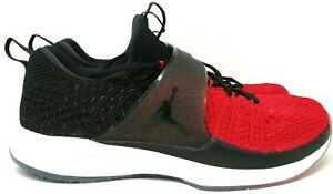Nike-Air-Jordan-Trainer-2-Flyknit-Size-10-Red-Black-Training-Shoes-921210-601
