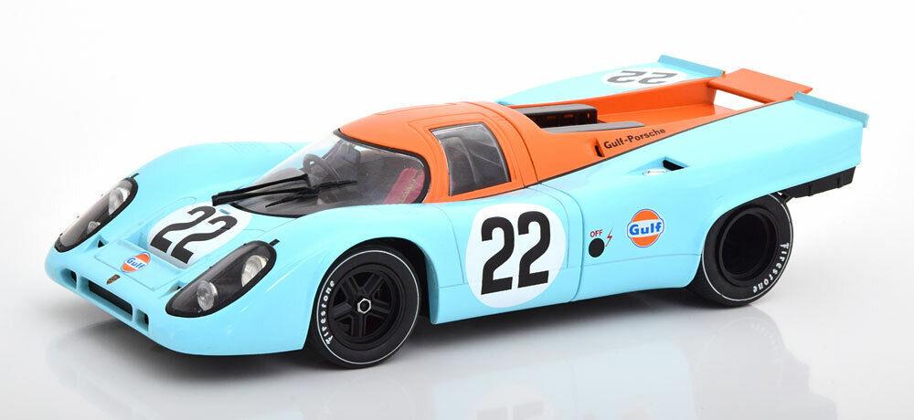 CMR Porsche 917K Gulf 24h Le Mans 1970 Hobbs Hailwood  22 1 18 Scale New In Stok