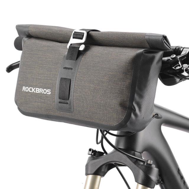 Rockbros Bicycle Bike Handlebar Bag Cycling Waterproof Black Capacity 4 5l Ebay
