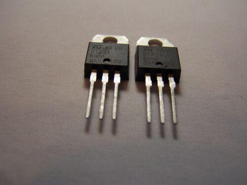 BTA24-600B 2Pcs STMicroelectronics High Amp /& Voltage Triac 25Amp // 600V