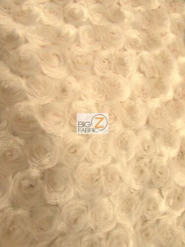 """ROSE//ROSETTE MINKY FABRIC 58//60/"""" WIDE BY THE YARD BABY SOFT FAUX FUR BLANKET"""