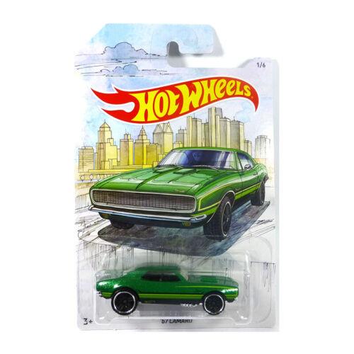 ° Hot Wheels gdg44-08 Chevrolet Camaro verde metalizado escala 1:64 nuevo