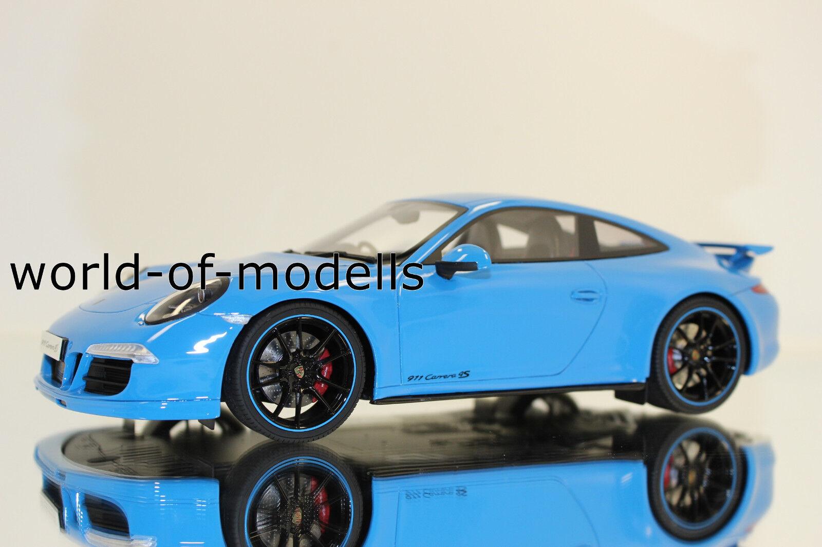 GT spirit gt085 porsche 911 type 991 4s 2011 bleu clair 1 18
