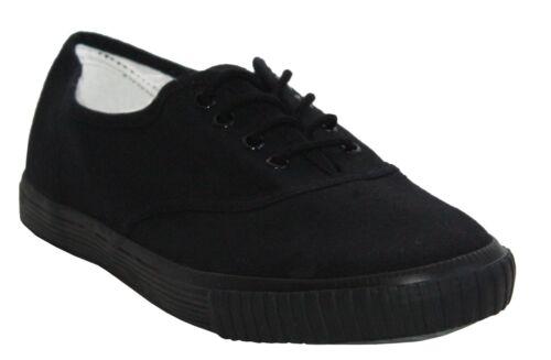 New kids plat filles tennis escarpins baskets garçons à lacets toile chaussures taille 13-6
