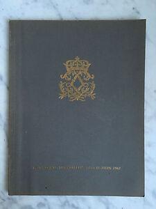 Catalogue Di Vendita M TG. Versailles Importanti Antico 1967