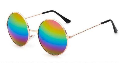 Classic Round Designer Womens Mens Metal Mirror Frog Sunglasses 100/%UV400 00