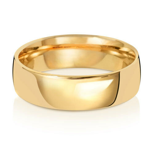 9ct Yellow gold Court Wedding Ring Large Sizes
