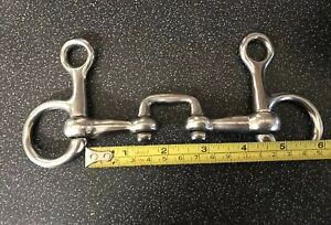 """La Fourniture English Made Genuine Fylde Saddlery 4.25"""" Mini Suspendu Cheek Boucher Rrp £ 70.00-afficher Le Titre D'origine Excellent Effet De Coussin"""