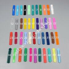 1040 Pcs Ligature Tie Dental Orthodontics Ring Elastic Latex Bands 45 Colors