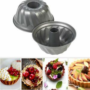 25cm-Round-Fluted-Bundt-Cake-Tin-Savarin-Kugelhopf-Baking-Mould-Decorating-Pan
