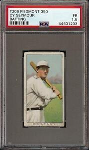 Rare-1909-11-T206-Cy-Seymour-Batting-Piedmont-350-New-York-PSA-1-5