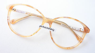 Süß GehäRtet Fassung Brille Frame 70s Damen Große Glasform Hell Beige Marke Neostyle Size L