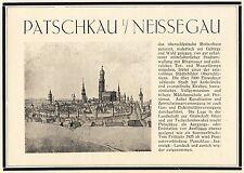 Patschkau Neissegau Reklame 1925 Eigenwerbung Schlesien Paczkow Werbung +