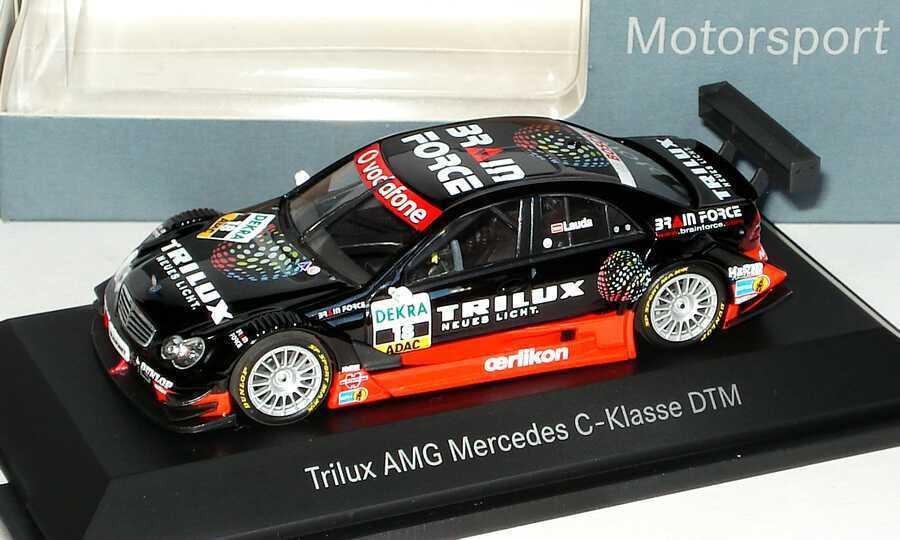 1 43 MERCEDES-BENZ CLASSE C w203 DTM 2007 trilux Nº 18, Lauda-Dealer-Edition