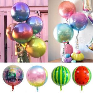22'' 4D Colorful Rainbow Foil Balloon Celebration Birthday Party Wedding Decor