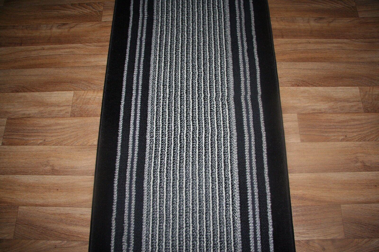 Escalier/Couloir Tapis Couloir De Couloir Tapis Toute Taille x 60 cm 2 Couleurs Rayures Coureur Escalier Hall af156a