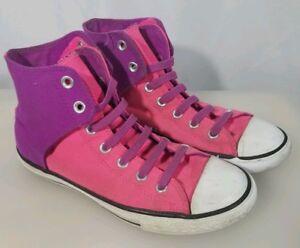 77e648e48e59e7 Converse Chuck Taylor All Star Hi Top Pink Purple No Tie Size Youth ...
