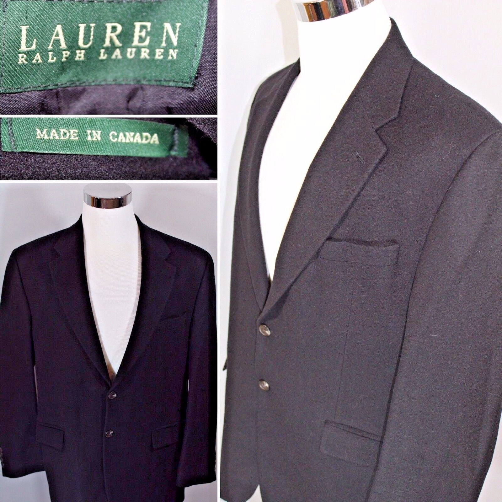 LAUREN RALPH LAUREN Grün Label Camel Hair Blazer Made in Canada  Herren SZ 45 R