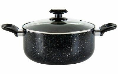 20cm Antiaderente Casseruola Cottura Pan Marmitta Lì Ad Induzione Con Venature Di Marmo Nero-