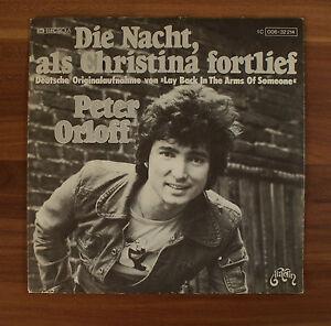 Single-7-034-VINYL-Peter-Orloff-La-notte-che-christinarose-Fort-cammino