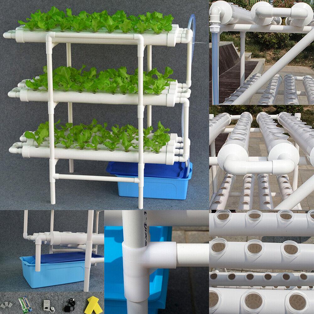 Nuevo Sistema Hidropónico Crecer Kit 108 sitios de planta 3 capa planta vegetal Herramienta De