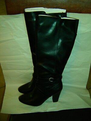 1.4.3. girl BLACK BOOTS ELSIE SIZE 8 W